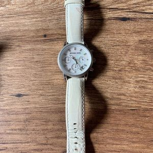 Michael Kors silver and white watch